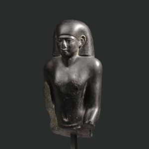 Egyptian Diorite Statue of a Shrine Bearer