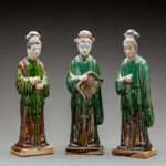 Set of Three Ming Dynasty Figures