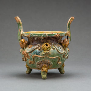 Tang Sancai-Glazed Tripod Vessel