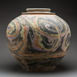 Large Han Painted Terracotta Vessel