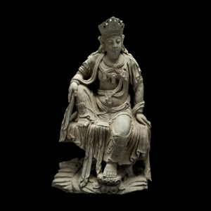 Ming Stone Sculpture of the Bodhisattva Guanyin