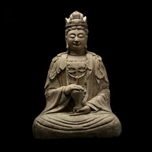 Ming Dynasty Seated Sculpture of Maitreya