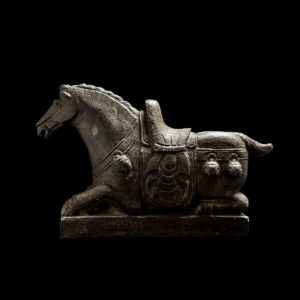 Qing Stone Sculpture of a Seated Horse2