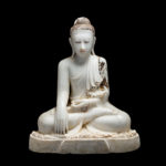 Marble Sculpture of the Seated Buddha