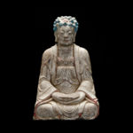 Ming Dynasty Stone Seated Buddha