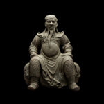 Ming Dynasty Stone Sculpture of Guan Yu