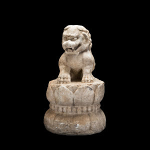 Yuan Dynasty White Marble Lion