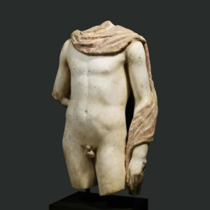 Greek Marble Polychrome Sculpture of a Heroic Male Youth2