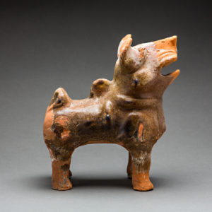 Han Glazed Terracotta Dog