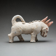 Western Jin Painted Terracotta Sculpture of a Mythological Beast