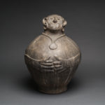 Chokwe Terracotta Monkey Vessel