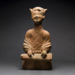 Han Dynasty Painted Pottery 'Sichuan' Seated Musician