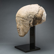 26th Dynasty Stone Sarcophagus Fragment of a Head