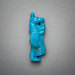 Egyptian Faience Amulet Depicting the God Anubis