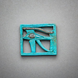 Egyptian Faience Amulet in the shape of the Sacred Eye Of Horus