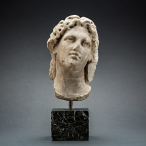 Hellenistic Marble Head of Alexander the Great