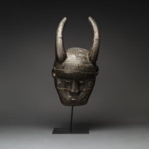 Malinke Wooden Horned Mask