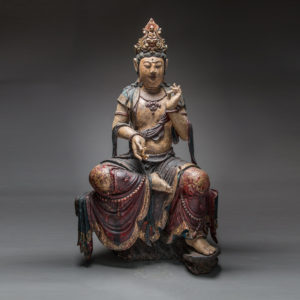 Ming Wooden Polychromed Guanyin