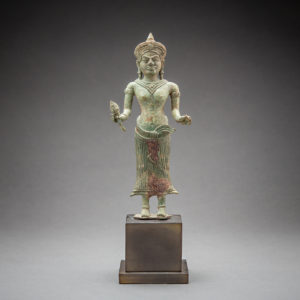 Khmer Bronze Sculpture of the Goddess Uma