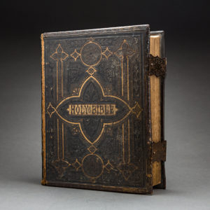 Ornate Leather-Bound and Illustrated Brown's Family Bible
