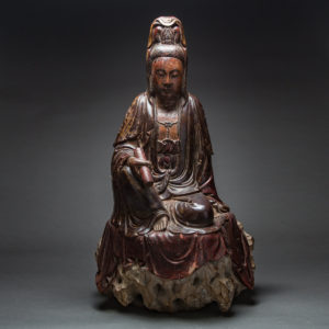 Ming Lacquered Wood Guanyin