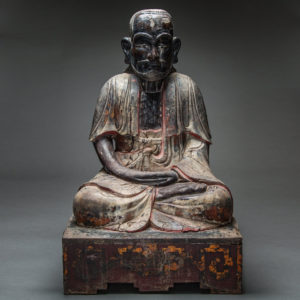 Wooden Sculpture of Bodhidharma