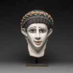 Roman Period Plaster Funerary Mask of a Woman