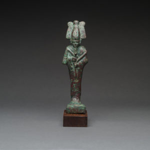 26th Dynasty Bronze Sculpture of Osiris