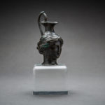 Hellenistic Bronze Vessel in the Shape of a Woman's Head