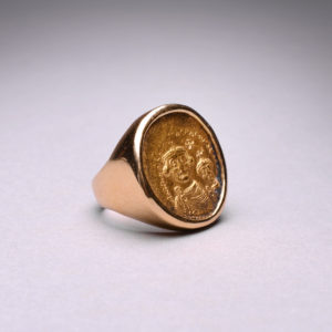 Gold Ring Featuring a Byzantine Gold Coin of Emperor Heraclius2