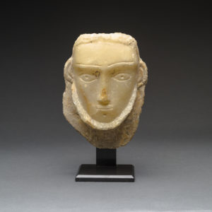 Funerary Head of a Bearded Man