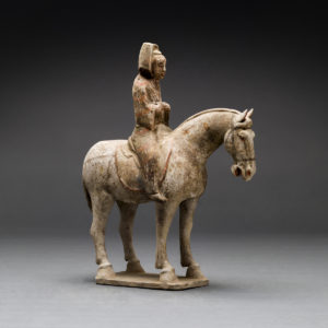 Tang Polychrome Horse and Female Rider2