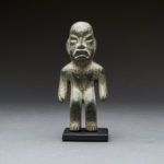Olmec Greenstone Sculpture of a Standing Man