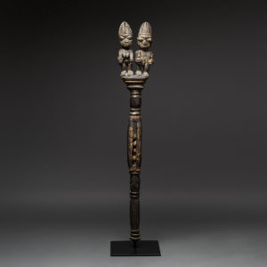 Yoruba Wooden Ceremonial Staff