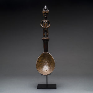 Senufo Wooden Spoon with a Handle in the Form of a Woman
