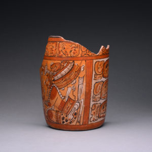 Mayan Polychrome Cylindrical Vase Fragment