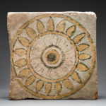 Painted Tile with Rosette Motif