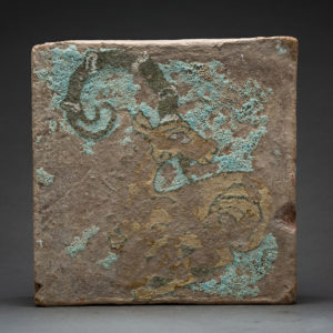 Painted Tile with Ibex