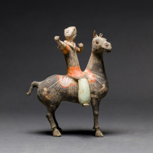 Han Polychrome Horse and Rider3