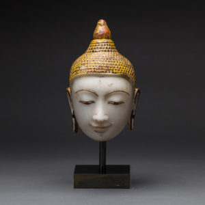 Shan Marble Head of Buddha2