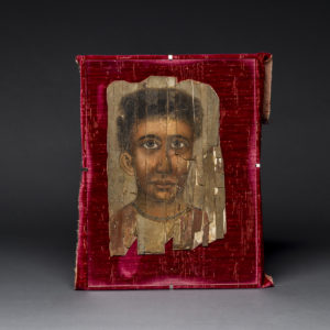 Roman Period Egyptian Mummy Portrait Depicting a Young Man