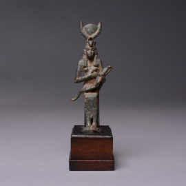 Bronze Seated Figure of Isis and Horus