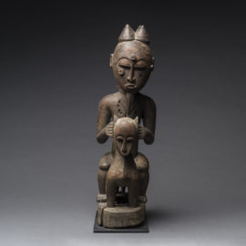 Lagoons Region Sculpture of an Animal and Rider