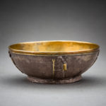 Achaemenid Gilt Silver Bowl with Standing Figures