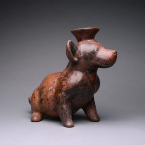 Colima Terracotta Vessel in the Form of a Seated Dog 2
