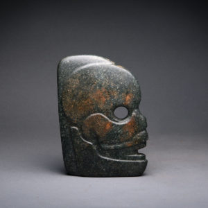 Mayan Jade Hacha in the Form of a Skull 1