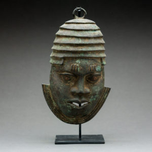 Benin Bronze Mask of an Oba 1