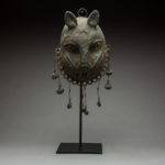 Benin Bronze Mask of a Leopard with Bells 1