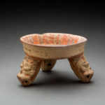 Mayan Painted Terracotta Tripod Bowl 1