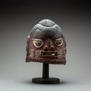 Yoruba Painted Wooden Dance Mask 1